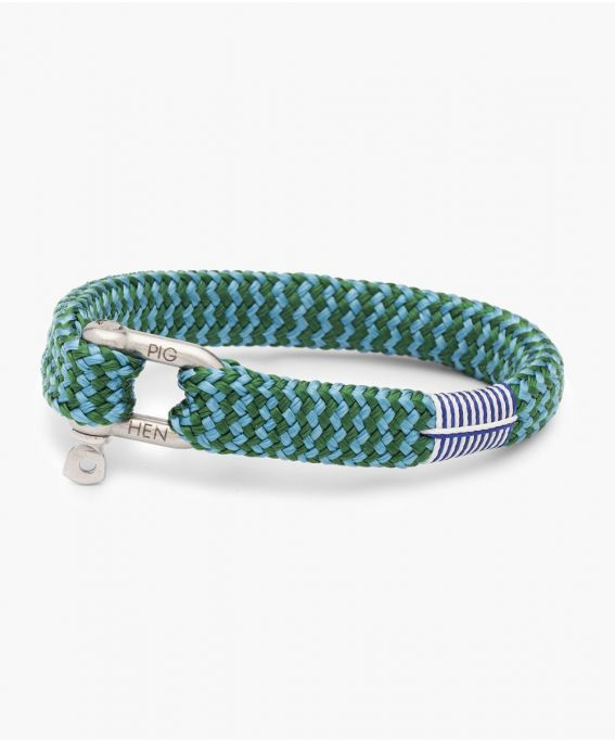 Sharp Simon Jungle Green - Sky Blue | Silver M