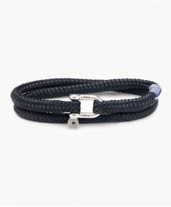 Salty Slim Navy | Silver M